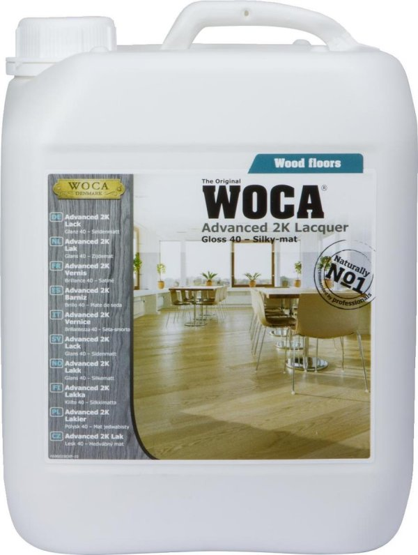WOCA Advanced 2K Floor Lacquer Satin 5L