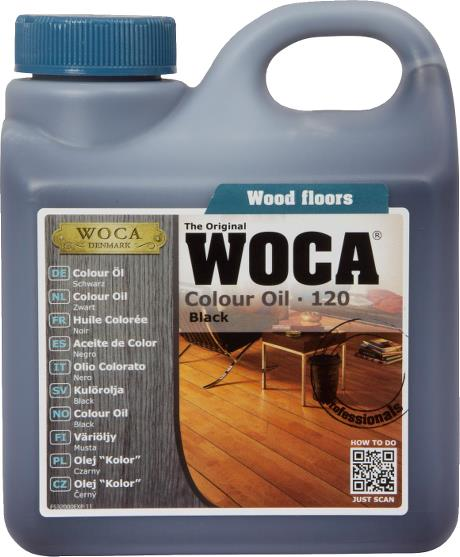WOCA Colour Oil Black 1L