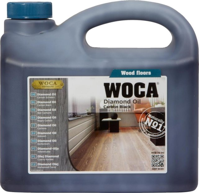 WOCA Diamond Oil Carbon Black 2.5L