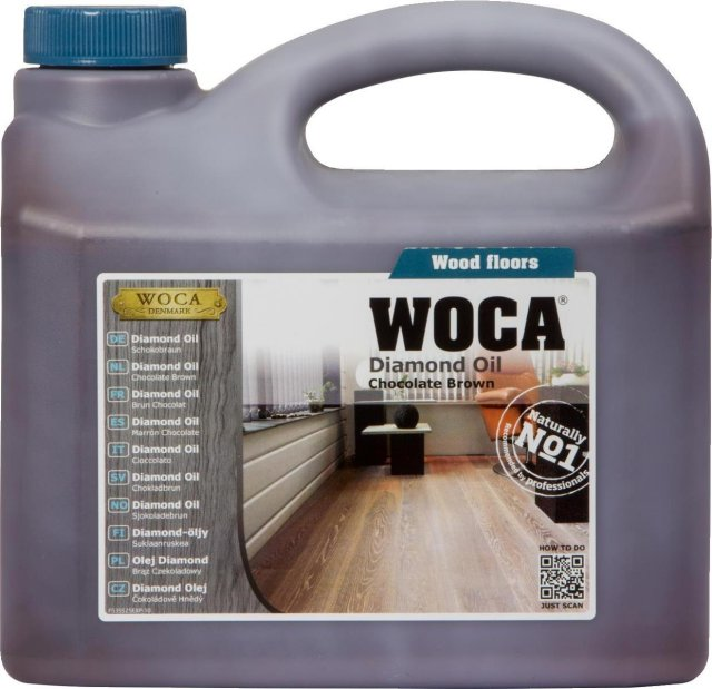 WOCA Diamond Oil Chocolate Brown 2.5L