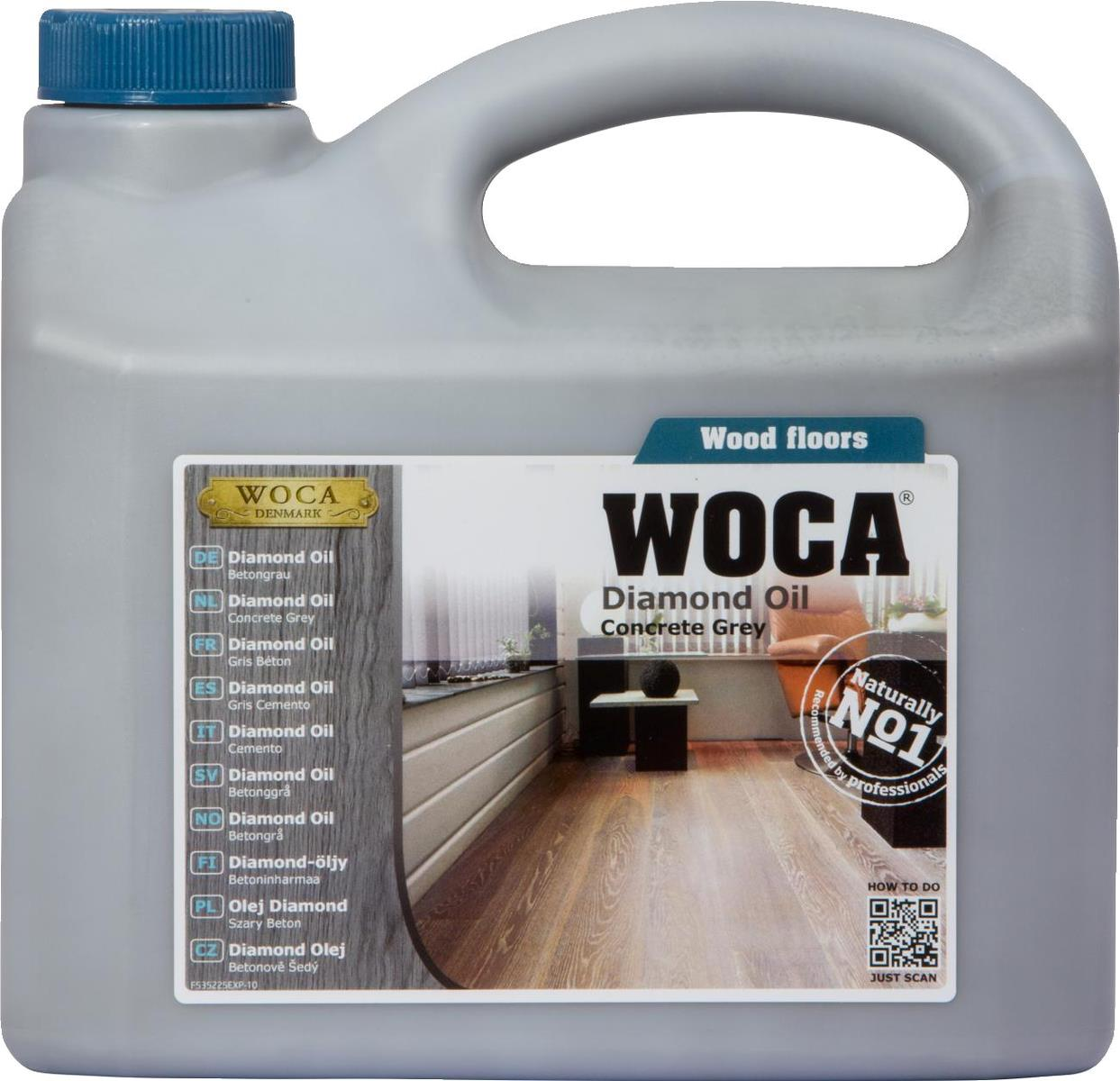 WOCA Diamond Oil Concrete Grey 2.5L