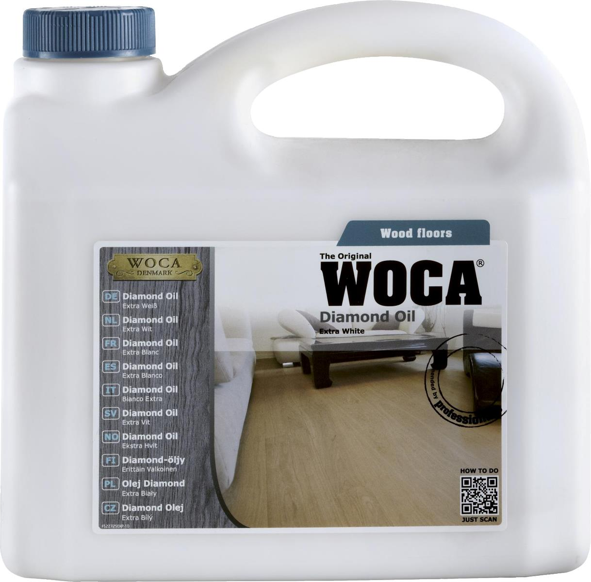WOCA Diamond Oil Extra White 2.5L