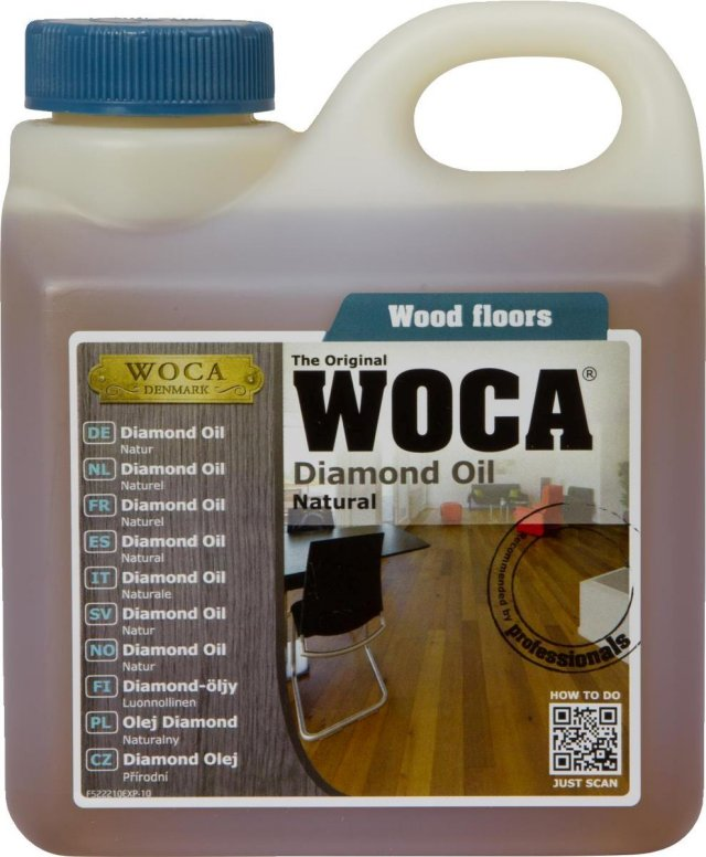 woca diamond oil natural 1l only inc vat and delivery at floor sales online. Black Bedroom Furniture Sets. Home Design Ideas