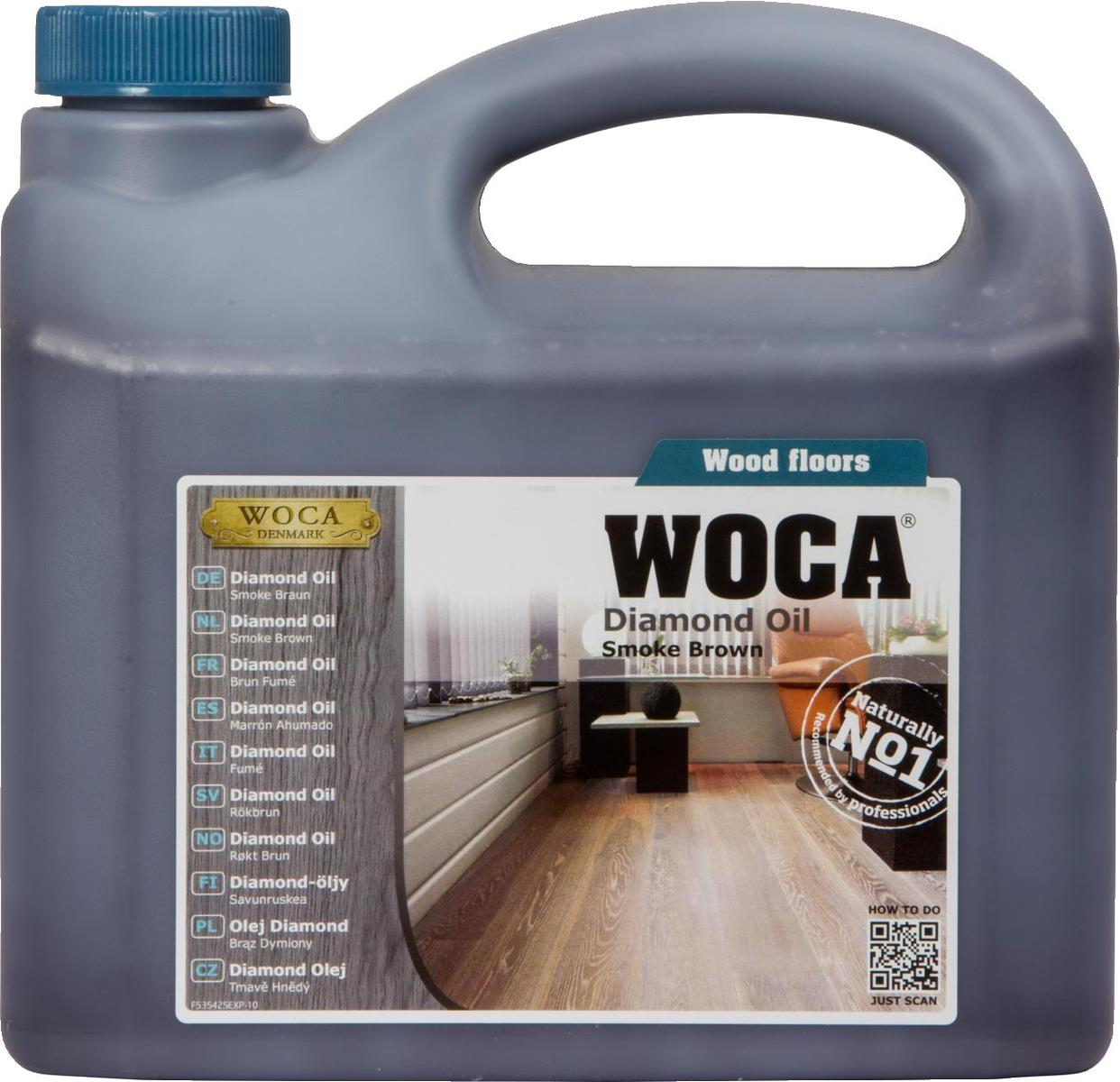 WOCA Diamond Oil Smoke Brown 2.5L
