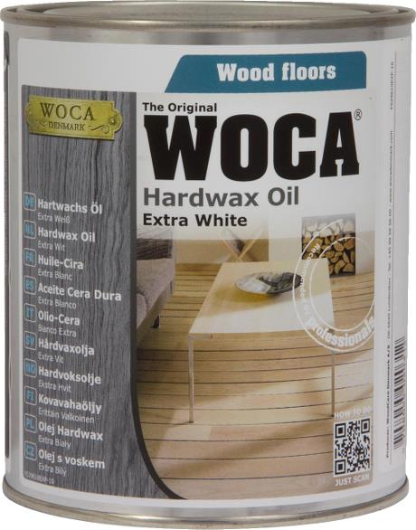 WOCA Hardwax Oil Extra White 0.75L