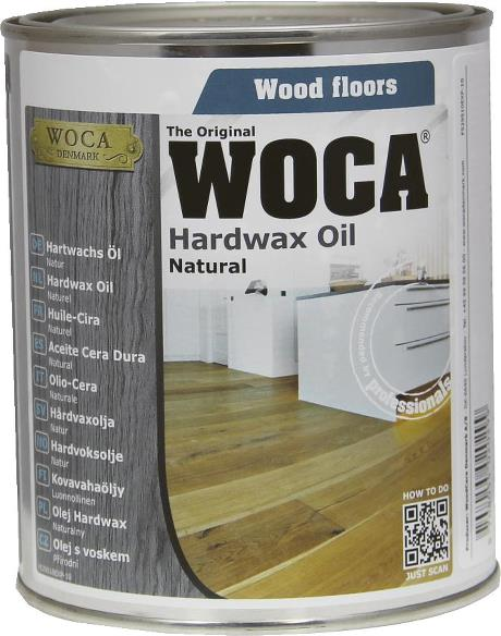 WOCA Hardwax Oil Natural 0.75L