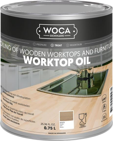 WOCA Worktop Oil 0.75 L - White